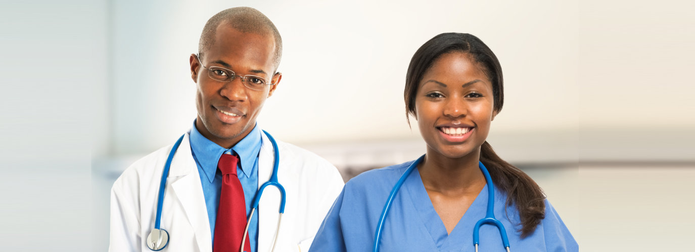 medical workers smiling
